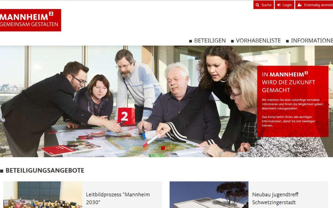 Startschuss zur Freischaltung des Beteiligungsportals der Stadt Mannheim ist gefallen!